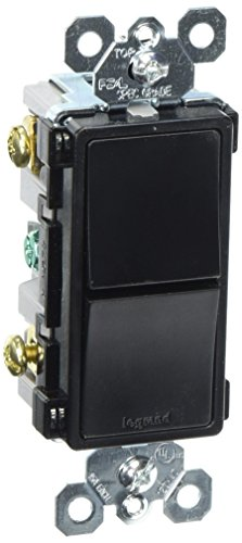 Rocker Combo Single (Legrand - Pass & Seymour radiant RCD11BKCC6 Combination Rocker Wall Switch: 15A Single Pole/Single Pole, Black)