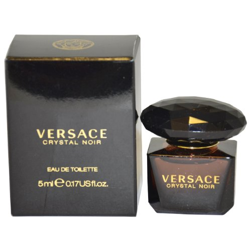 - Versace Crystal Noir Mini Eau de Toilette Spray for Women, 5 ml