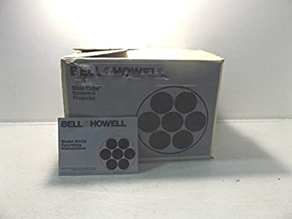 bell howell rc 55 slide cube 35mm projector auto focus remote
