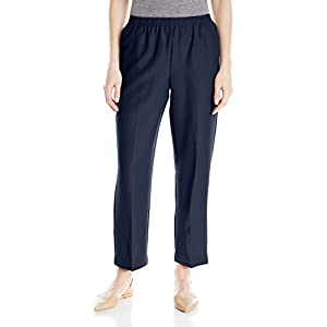 Alfred Dunner All Around Elastic Waist Polyester Short Petite Pants – Pull-On Style