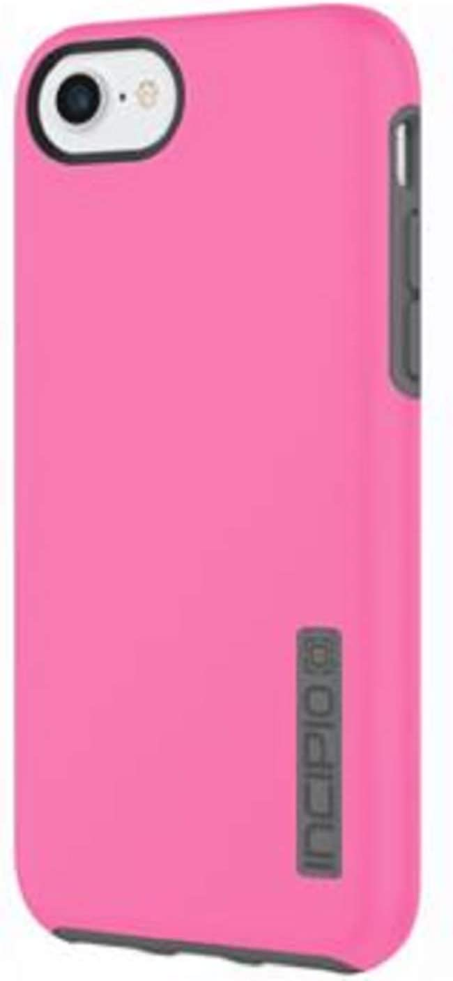 Incipio DualPro iPhone 8 & iPhone 7/6/6s Case with Shock-Absorbing Inner Core & Protective Outer Shell for iPhone 8 & iPhone 7/6/6s - Pink/Charcoal