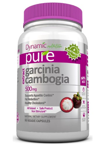 Garcinia Cambogia Extract Natural Appetite Suppressant and Weight Loss Supplement 1,000 mg per Serving, 90 capsules @ 500 mg per capsule