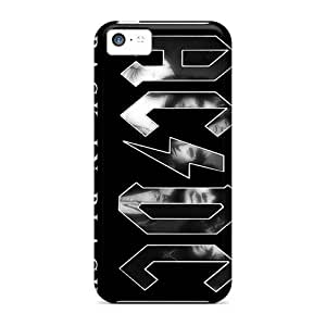 ChristopherWalsh Apple Iphone 5c Anti-Scratch Hard Phone Cover Support Personal Customs Realistic Ac Dc Band Pattern [fvl172VErs]