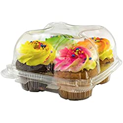 Katgely Cupcake Boxes Cupcake Containers 4 Pack Cupcake, Set of 10