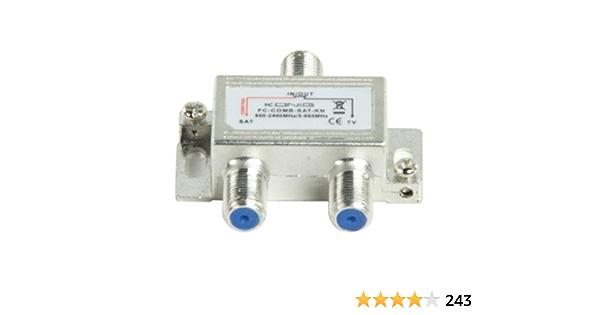 König FC-COMB-SAT-KN divisor o combinador de cable TV SAT/UHF/VHF