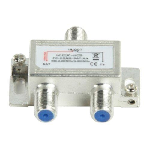 34 opinioni per Konig FC-COMB-SAT-KN Miscelatore SAT/UHF/VHF, Acciaio