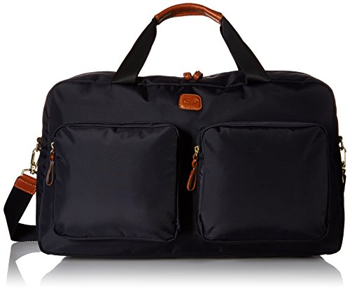 Bric's Luggage Bxl32192 X Bag Boarding Duffel, Navy with Cognac Trim, One Size by Bric's