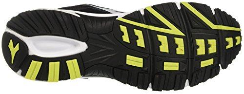 Zapatos Diadora Running Sneaker Jogging Hombres Raid 3 Negro / Blanco Prístino Tamaño Nero