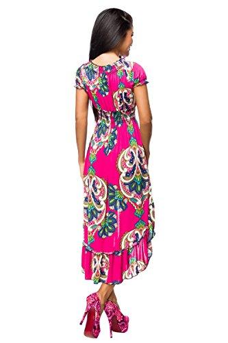 size Red Cut Out kleine pink Sachen Dress s Women One 1001 gemustert qTAPwB7