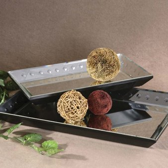 Uttermost Alanna Beveled Mirrored Decorative Trays (Set of 2)