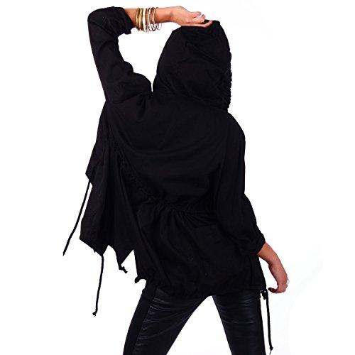 Taille Blouson Schwarz Femme Empire Fashion4young Noir BHw5qxx