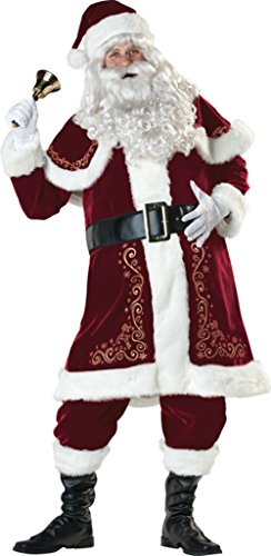 Jolly Ol' St. Nick Mr. Santa Claus Adult Mens Costume Red Suit Christmas Holiday, X-Large (46-48) ()