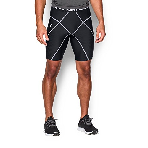 Under Armour Men's HeatGear Armour Compression Coreshorts, Black/White, Medium (Performance Short Under Mens Armour)