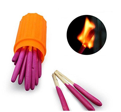 Jackie 3 Packs Portable Extra-large Head Windproof Waterproof Matches