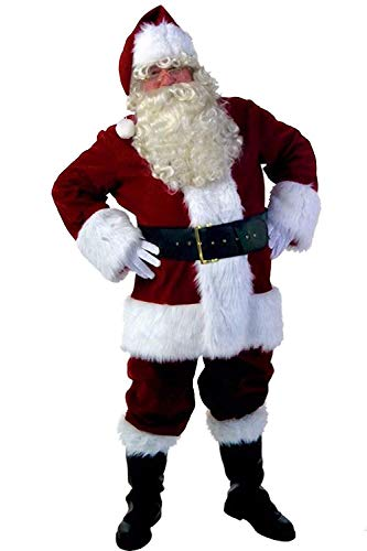 Simplecc Santa Claus Costume Mens' Deluxe Christmas Cosplay Outfits Adult Costumes -
