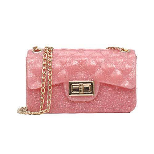 Tasseled Hobo Handbag - PVC Shoulder Bags Women Candy Color Women Jelly Bags Purse Solid Color Handbags Crossbody Bag Lady Beach Bag Pink