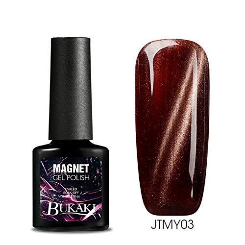 Gradient Color Cat Eye UV LED Nail Gel Polish Soak Off Magnetic Varnish Lacquer - 3