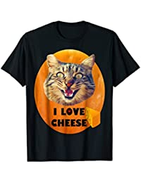Love Cheese Crazy Cat T-Shirt, Cheese T-Shirt, Cat T-Shirt