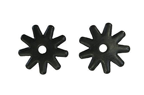 Western Spur Black Steel Rowels 1 Inch Sold In Pair 9 Point