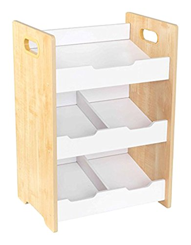 KidKraft Storage Bin, Natural/White