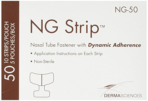 Nasal Tube Fastener - Derma Sciences NG50 Nasal Tube Fastener, Adult (Pack of 50)