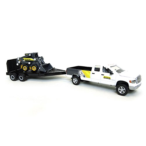 1:64 New Holland L170 Skid Steer Loader with Dodge Pickup Truck