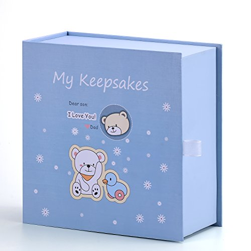 Brothersbox Baby Keepsake Box, First Year Baby Journal Box for Newborn Boy or Girl ()