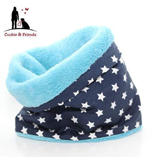 HundeloopBlue Stars, Schal für Hunde, wunderbar warm und weich Schal für Hunde