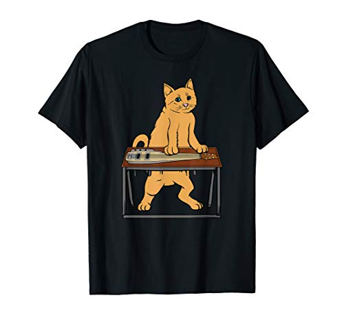 Funny Cat Playing Pedal Steel T-shirt Country Blues