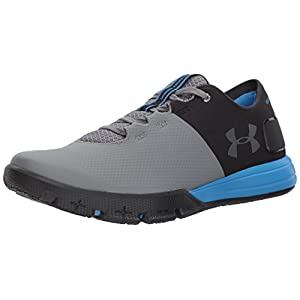 Under Armour Men's Charged Ultimate 2.0, Black (004)/Mako Blue, 10