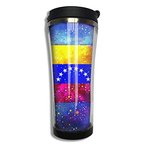 Venezuela Flag Starry Flag 10.6 Oz Stainless Steel Vacuum Cup Leak Proof Sport Cup Travel Coffee Mug Thermos Cup