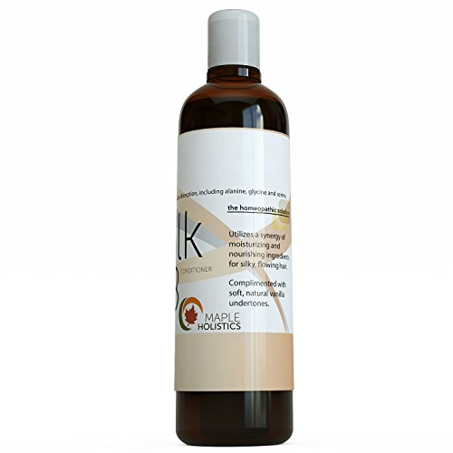 Silk18 Natural Hair Conditioner Argan Oil Sulfate Free Treatment For Dry And Damaged Hair Silk Amino Acids Jojoba Keratin All Hair Types Women Men Teens Safe For Color Treated Hair