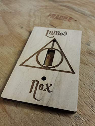 Light Switch Covers Kids - Harry Potter Engraved Wood Light Switch Cover (Single)