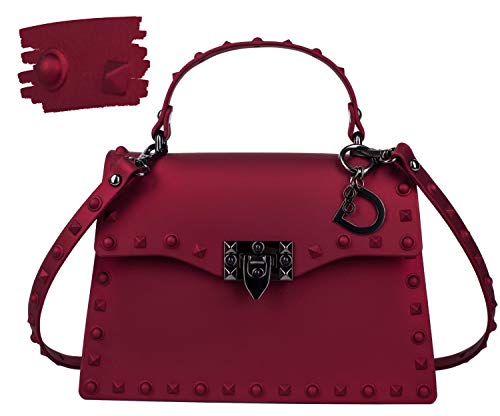 DASTI Carteras de Mujer en Oferta de Marcas Red Riveters Shoulder Handbag Purse Designer for Women Vegan Punk Studded Rivets Bag