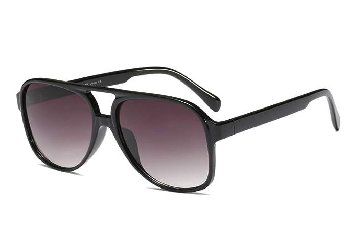 c46eeb227601 Vintage Retro 70s Sunglasses for Women Classic Large Squared Aviator Frame  (Black, 60)