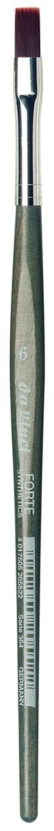 da Vinci Modeling Series 364 Forte Gaming and Craft Brush, Flat Extra-Strong Synthetic with Blue-Green Handle, Size 6