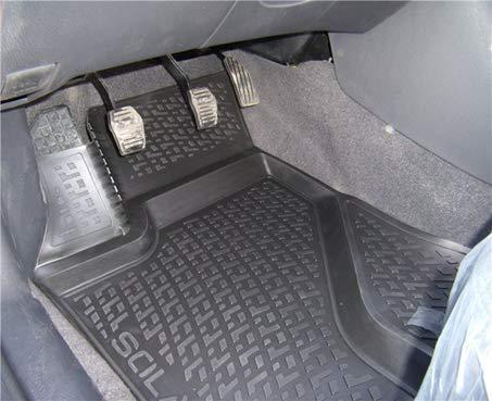 Apto para Fiat 500 Fiat 500 Cabrio Alfombras Moqueta para Automovil Antideslizantes Impermeable SIXTOL Juego de 4 Alfombrillas de Goma para Coche