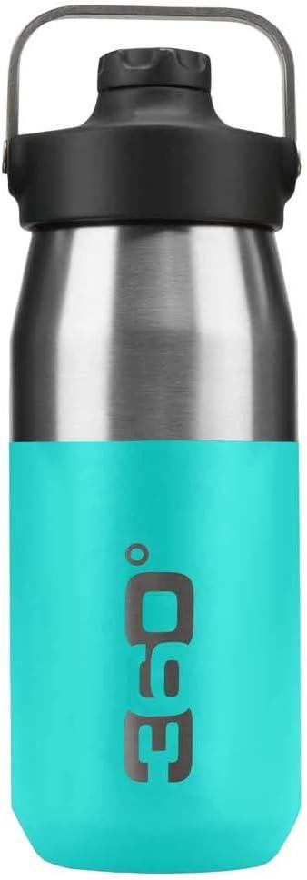 360 DEGREES Bidón Aislado Ancha+ Boca Estrecha con tapón magnético Botella, Adultos Unisex, Azul Turquesa, Talla Única