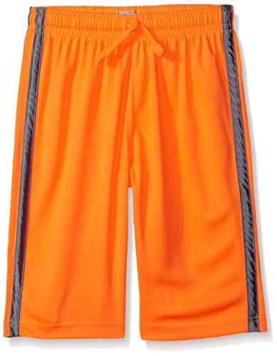 The Children's Place Little Boys' Striped Mesh Shorts, Orange Splash, Small/5/6