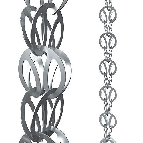 Modern Loop Rain Chain (Gray)