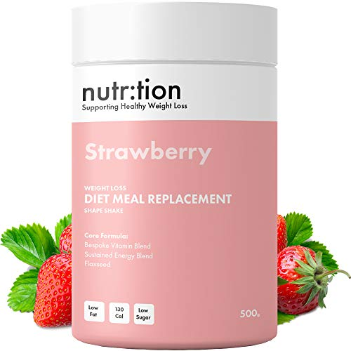 Nutr:Tion Strawberry Meal Replacement Shakes – Weight Loss Control & Energy – Unique for Women – High Protein, Low…
