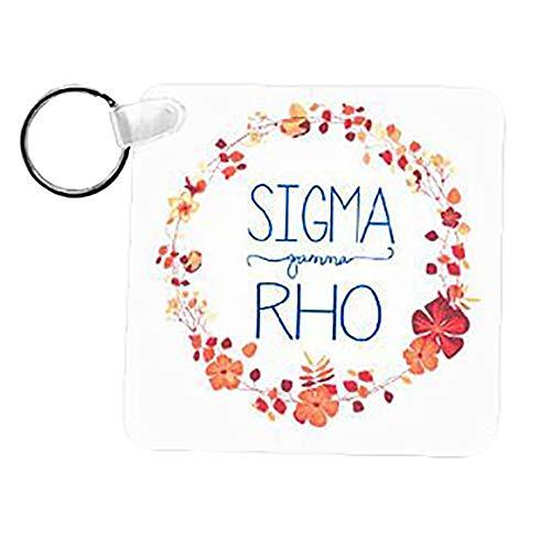 (Sigma Gamma Rho Floral Wreath Keychain)