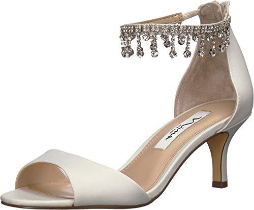 NINA Women's Chianne Ivory Satin 6 M - Satin Ivory Heels
