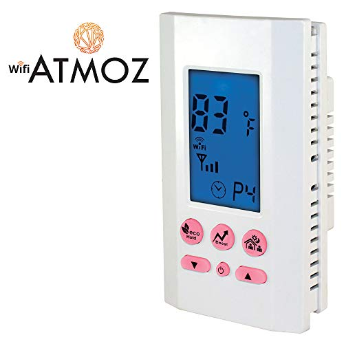 King Electric ATMOZ1-240-WIFI	 Single Pole 240V 16 Amp WiFi Programmable Line Voltage Thermostat White