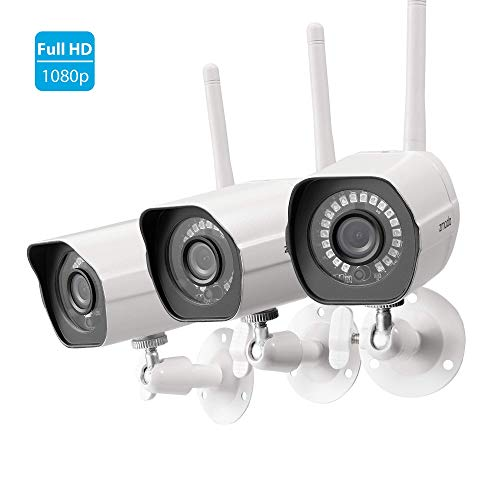 Zmodo Full HD 1080p Outdoor Wireless Security Camera System, 3 Pack Smart...
