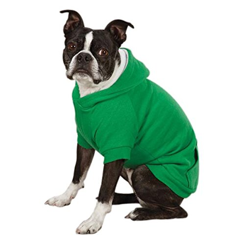 Zack & Zoey Fleece-Lined Hoodie for Dogs, 16'' Medium, Green by Zack & Zoey