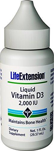Life Extension Liquid Vitamin D3 2000 Iu, Unflavored, 1 Fluid Ounce