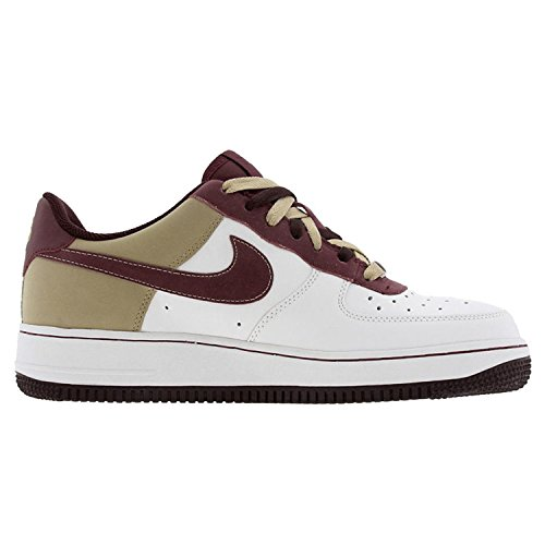 Nike Womens Air Force 1 07 Sneakers 315115 Bianco / Profondo Granato-twd-profondo Bordeaux