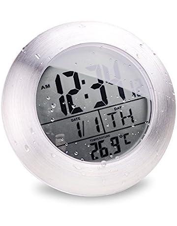Parfait Horlonge De Salle De Bain Avec Ventouse   Digitale Et étanche