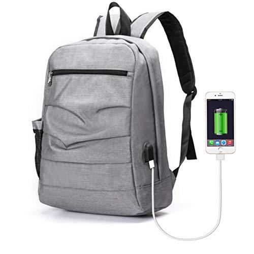 para gran Commuter Diseño Bolso negocios Antirrobo para Tsutou para capacidad para auricular USB popular puerto de de multifunción Ligero Bolso mochila orificio para Commut Mochila Gray con hombres soporte 4Bwq8OqU